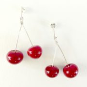 BO Duo cerises rouges attaches clou